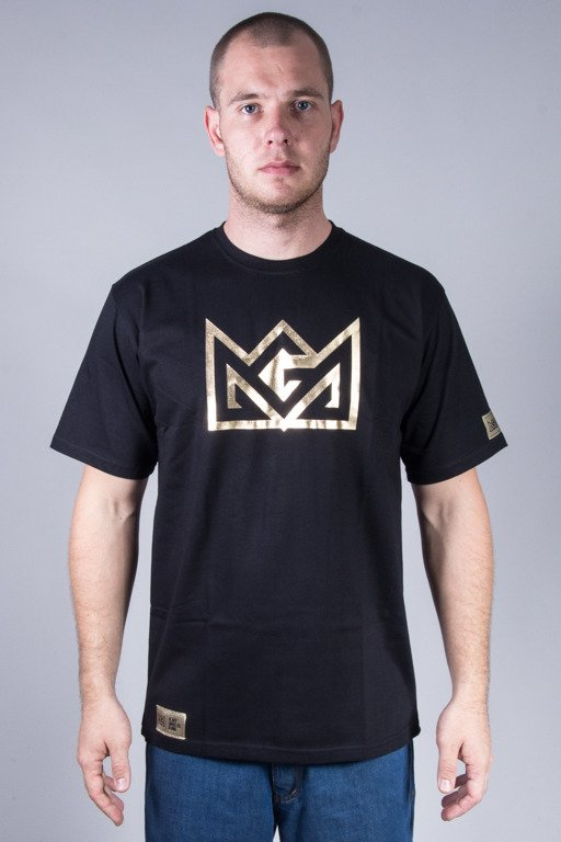 GANJA MAFIA T-SHIRT CROW FOIL BLACK-GOLD