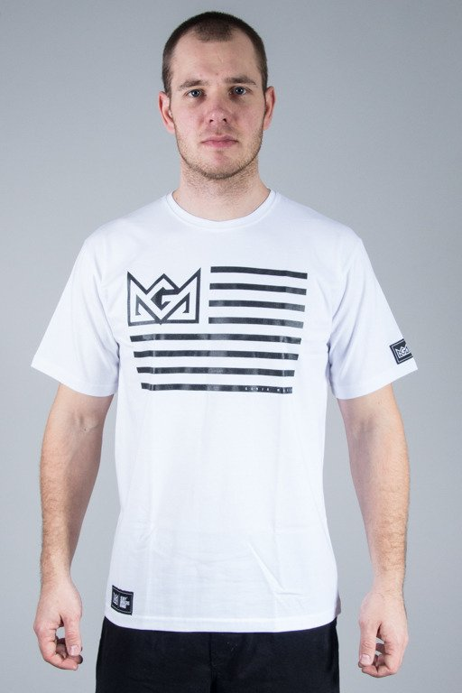 GANJA MAFIA T-SHIRT FLAG WHITE
