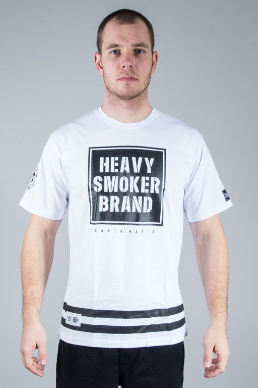 GANJA MAFIA T-SHIRT HEAVY WHITE-BLACK