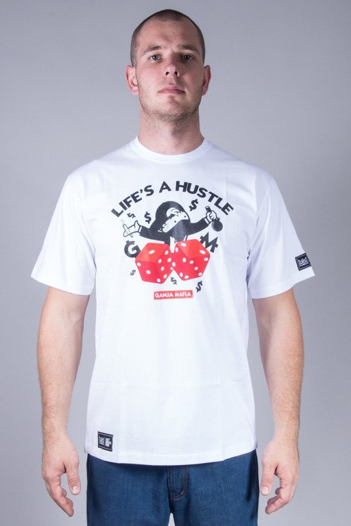 GANJA MAFIA T-SHIRT HUSTLE WHITE