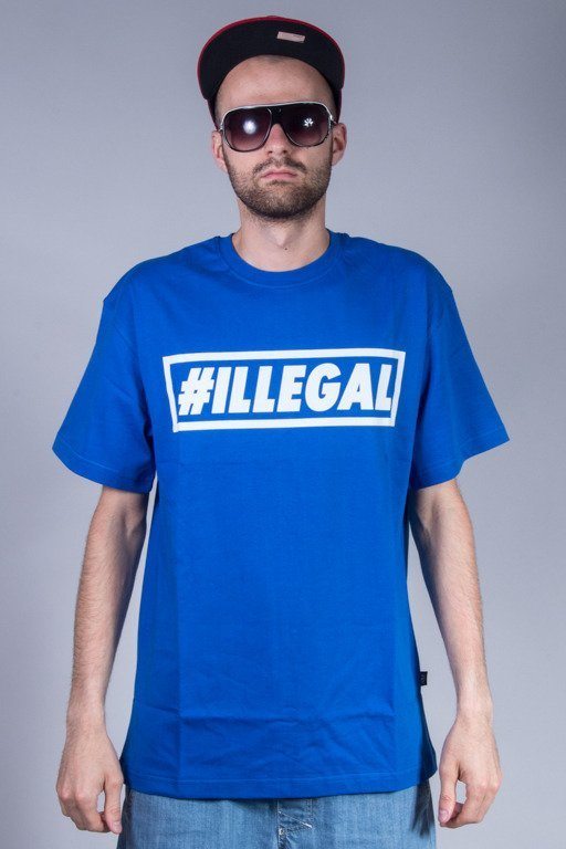 ILLEGAL T-SHIRT KLASYK BLUE