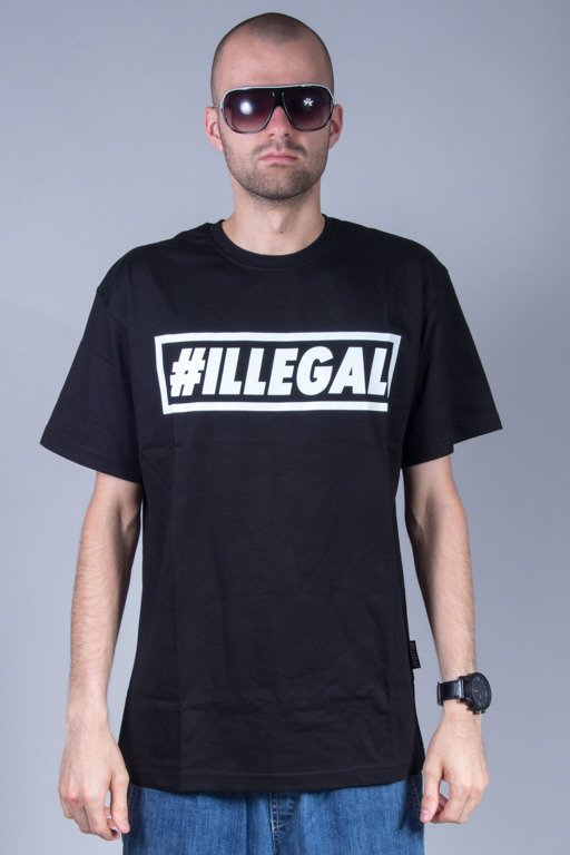 ILLEGAL T-SHIRT LOGO BLACK