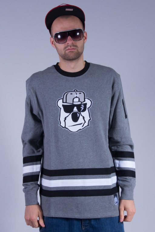 KOKA BLUZA BEZ KAPTURA HACKEY GAMEOVER GREY