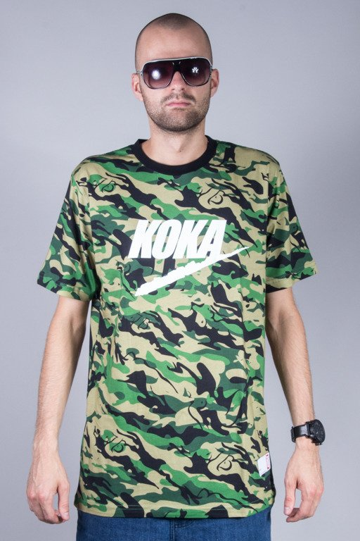 KOKA T-SHIRT FAKE CAMONAKED GREEN
