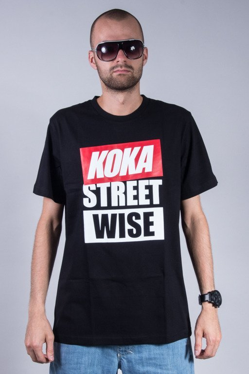 KOKA T-SHIRT WISE STREET BLACK