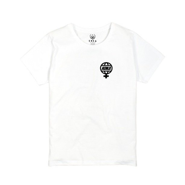 KOKA WMNS T-SHIRT THE GLOBE WHITE