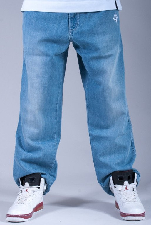 LABIRYNT SPODNIE JEANS #3 LIGHT BLUE-WHITE