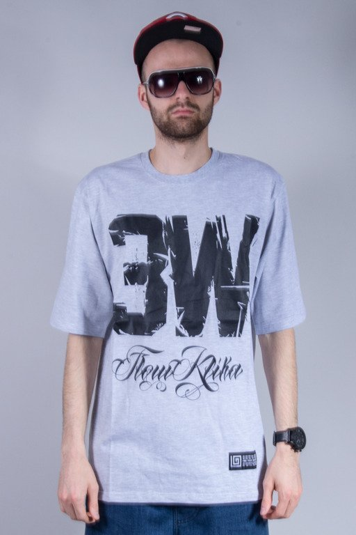 LABIRYNT T-SHIRT 3W FLOW KLIKA GREY