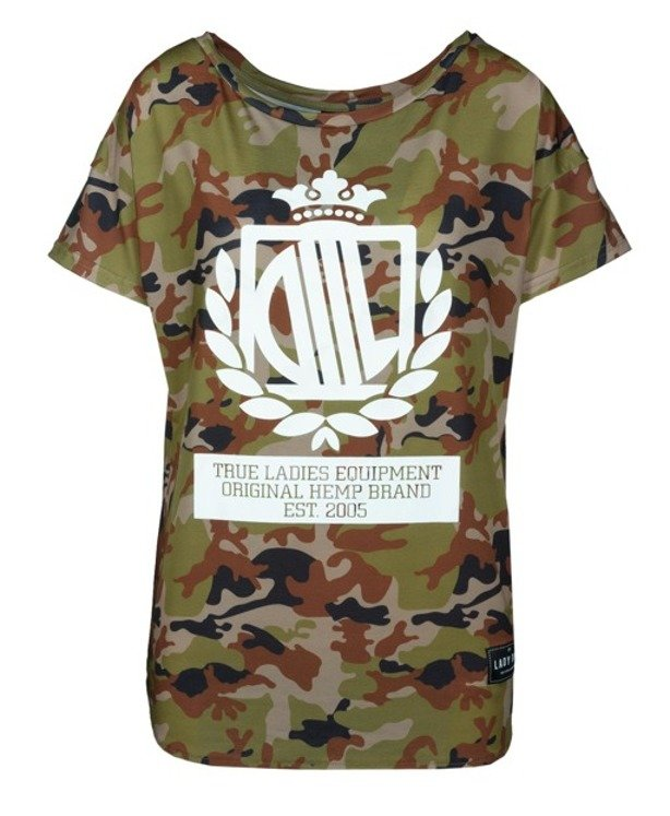 LADY DIIL T-SHIRT LOOSE CAMO