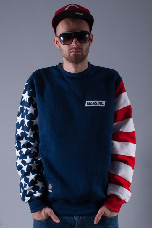 MASS BLUZA BEZ KAPTURA FLAG NAVY