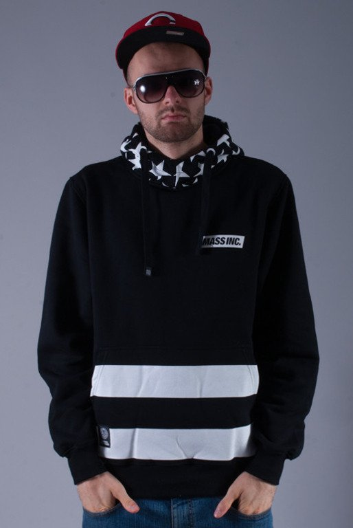 MASS BLUZA Z KAPTUREM FLAG BLACK