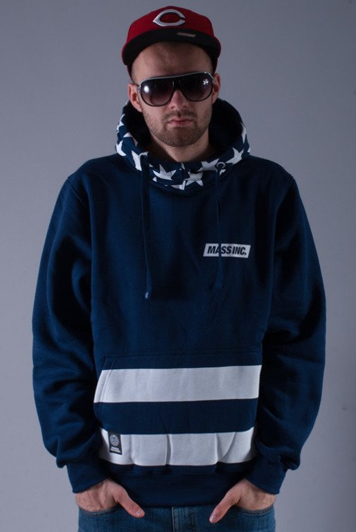 MASS BLUZA Z KAPTUREM FLAG NAVY
