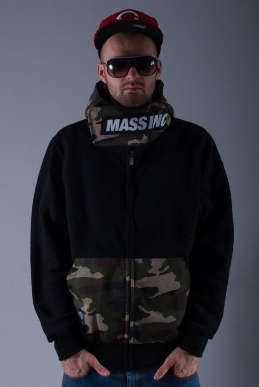MASS BLUZA Z KAPTUREM ZIP WOOD BLACK