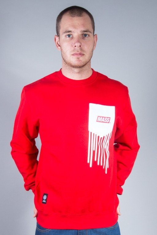 MASS CREWNECK POCKET COVER RED
