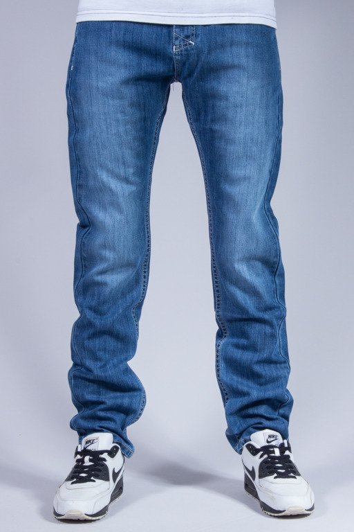 MASS SPODNIE JEANS POCKET BASE BLUE