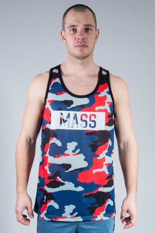 MASS TANK TOP BATTLE MESH RED CAMO