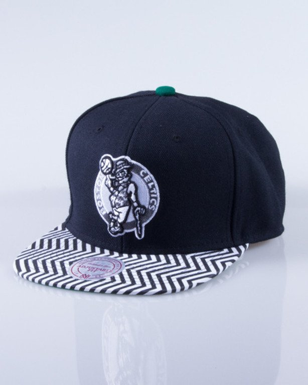 MITCHELL & NESS CZAPKA SNAPBACK BOSTON CELTICS ZIGZAG BLACK