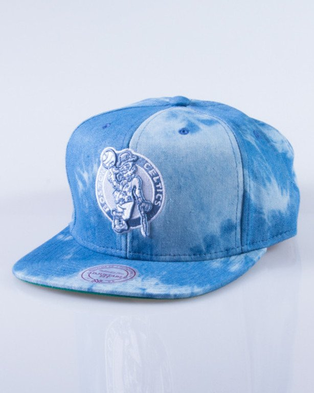 MITCHELL & NESS CZAPKA SNAPBACK EU129 BOSTON CELTICS DYED DENIM