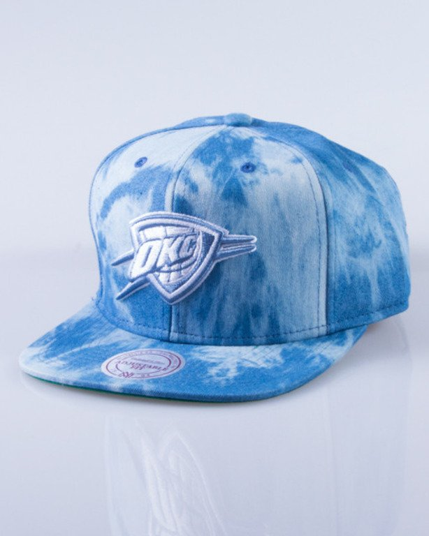 MITCHELL & NESS CZAPKA SNAPBACK EU129 OKLAHOMA CITY THUNDER DYED DENIM