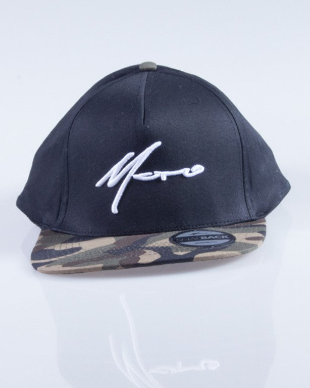 MORO CZAPKA SNAPBACK PARIS BLACK-GREEN CAMO
