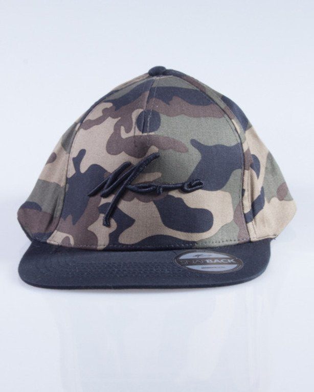 MORO CZAPKA SNAPBACK PARIS GREEN CAMO-BLACK