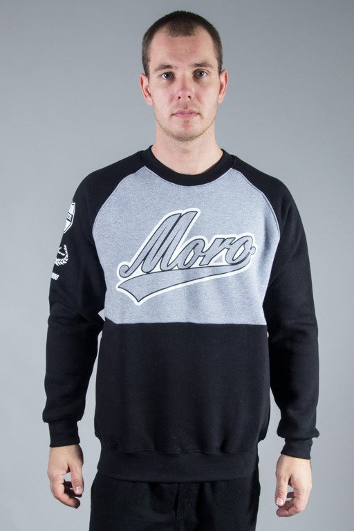 MORO SPORT CREWNECK DOUBLE BASEBALL GREY