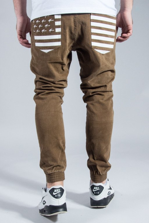 MORO SPORT PANTS CHINO JOGGER FLAG BEIGE