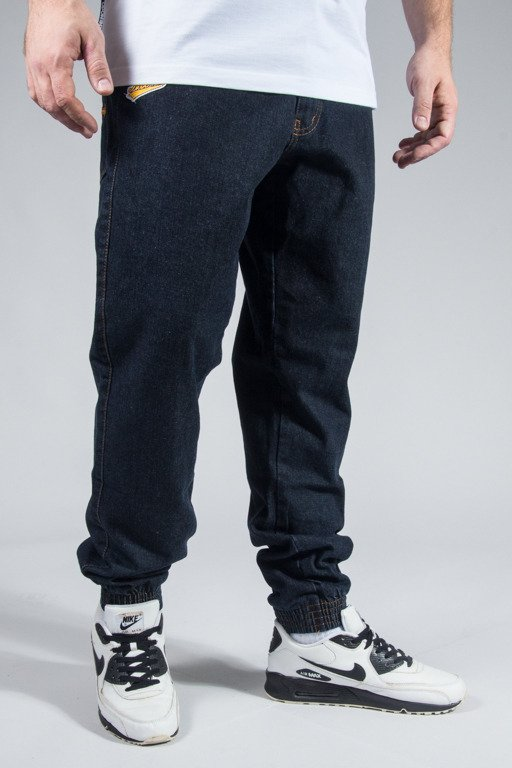 MORO SPORT PANTS JEANS JOGGER BIG PARIS DARK