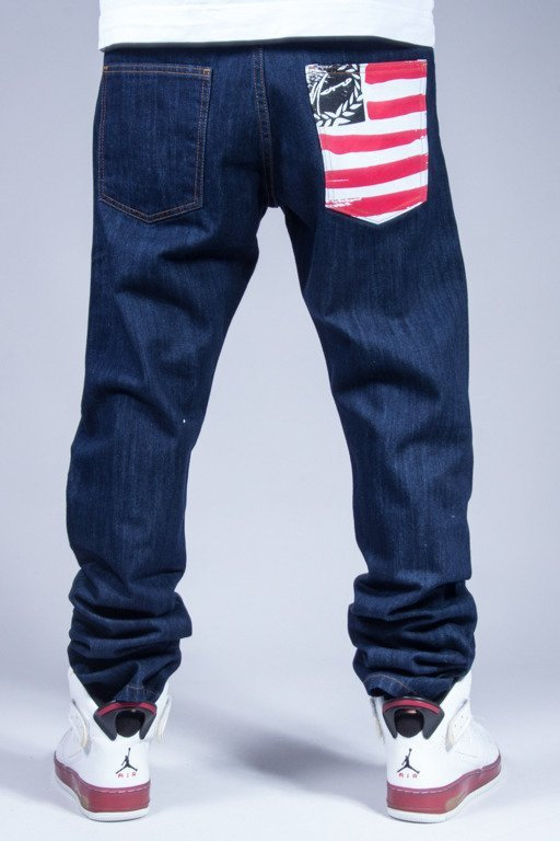 MORO SPORT PANTS JEANS SLIM FLAG DARK