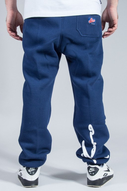 MORO SPORT SWEATPANTS LOGOS NAVY-RED