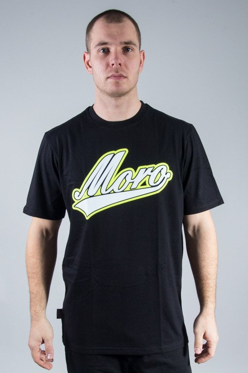 MORO SPORT T-SHIRT BASEBALL BLACK-YELLOW