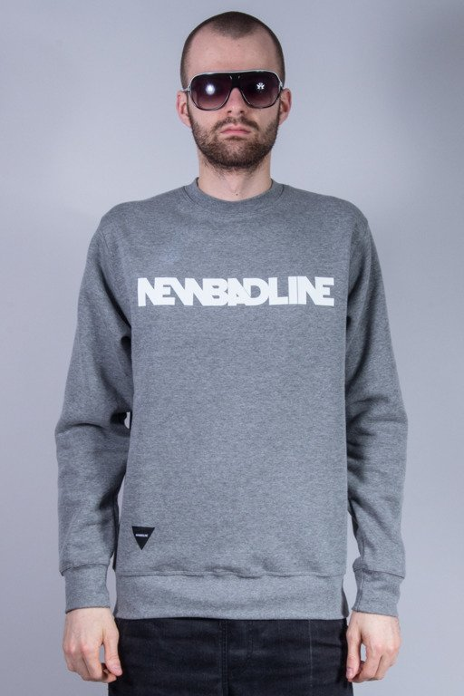 NEW BAD LINE BLUZA BEZ KAPTURA CLASSIC NEW GREY
