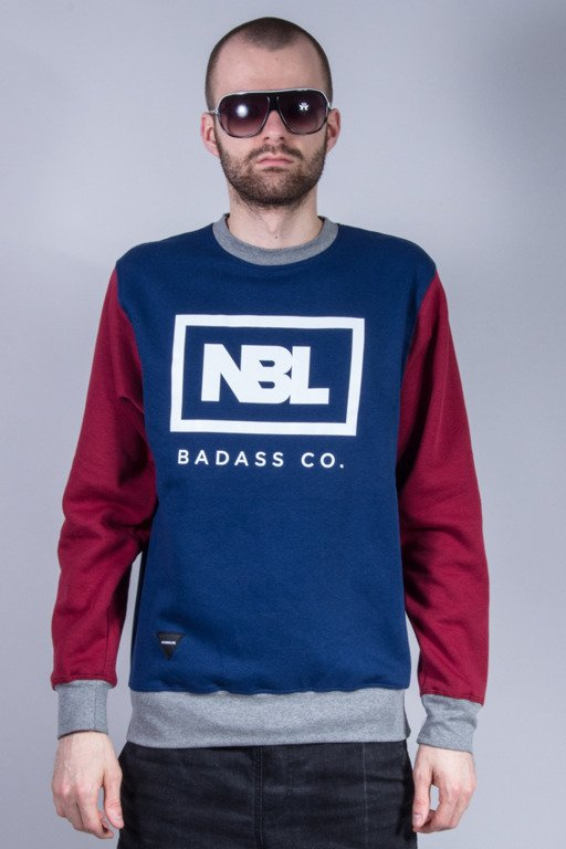 NEW BAD LINE BLUZA BEZ KAPTURA ICON NEW NAVY-MAROON