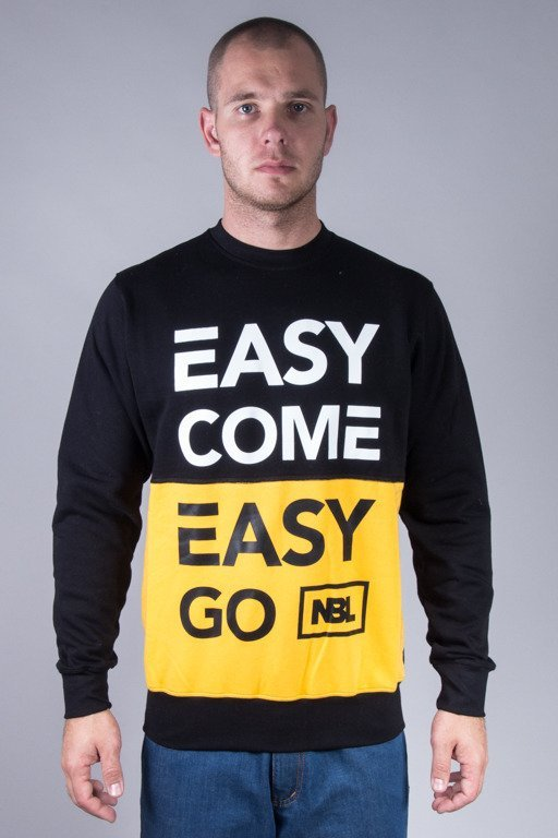 NEW BAD LINE CREWNECK EASY COME BLACK-YELLOW