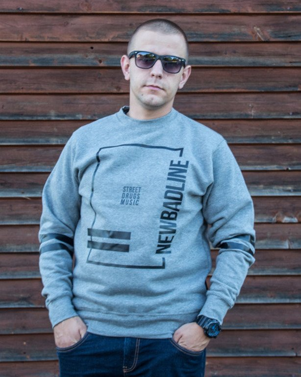 NEW BAD LINE CREWNECK SDM GREY