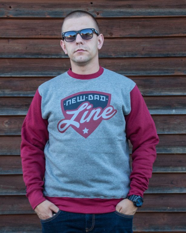 NEW BAD LINE CREWNECK SHIELD GREY-BRICK