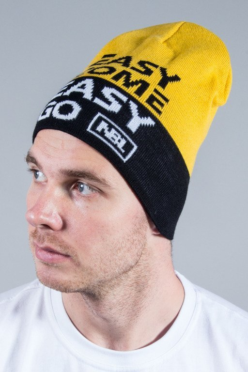 NEW BAD LINE CZAPKA ZIMOWA EASY YELLOW-BLACK