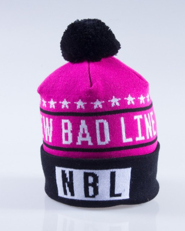 NEW BAD LINE CZAPKA ZIMOWA SWAG PINK