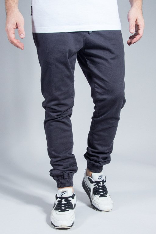 NEW BAD LINE PANTS CHINO JOGGER BASKET GRAPHITE