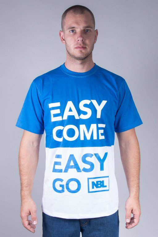 NEW BAD LINE T-SHIRT EASY WHITE-BLUE