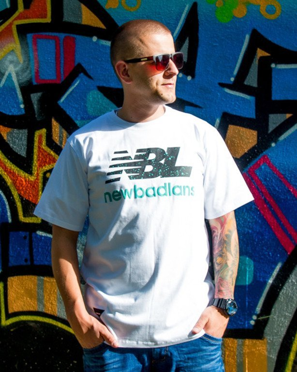 NEW BAD LINE T-SHIRT NEWBADLANS WHITE
