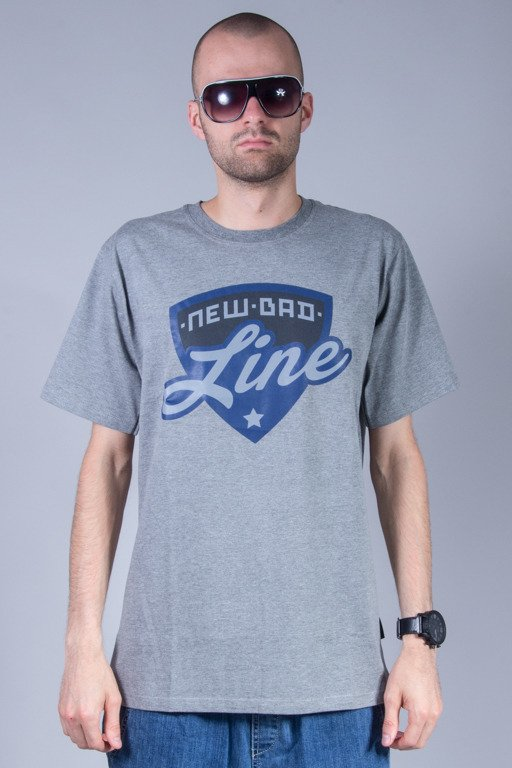 NEW BAD LINE T-SHIRT SHIELD GREY-NAVY