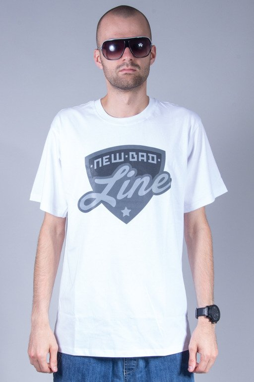 NEW BAD LINE T-SHIRT SHIELD WHITE