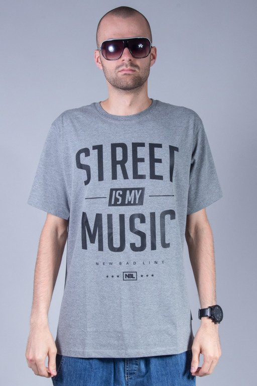 NEW BAD LINE T-SHIRT STREET GREY