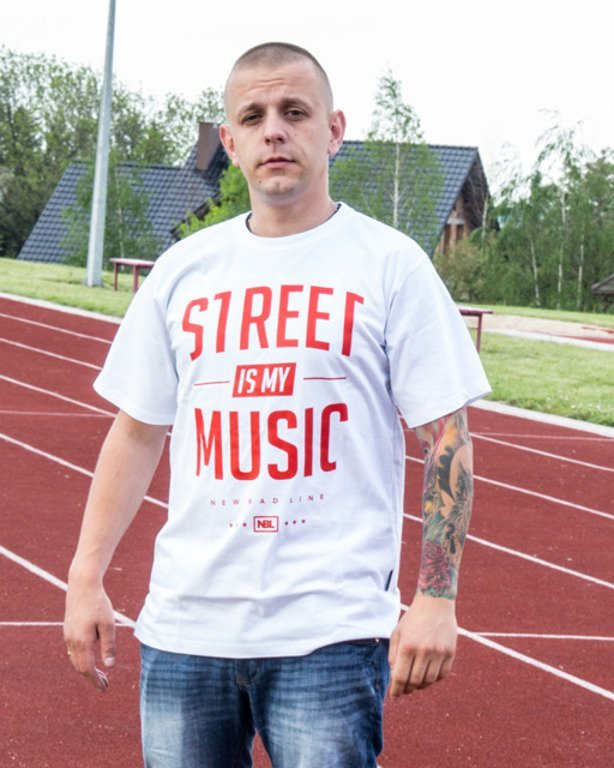 NEW BAD LINE T-SHIRT STREET WHITE-RED