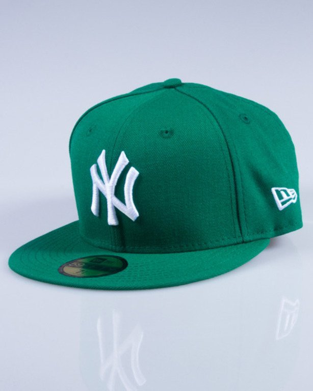 NEW ERA CZAPKA FULLCAP MLB BASIC 10004022 GREEN-WHITE
