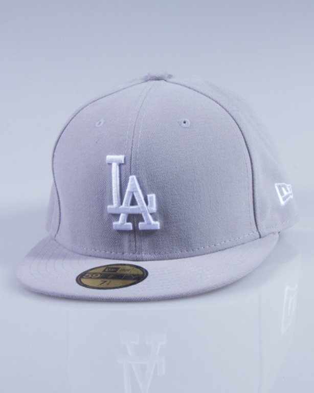 NEW ERA CZAPKA FULLCAP MLB BASIC 10531950 GREY-WHITE