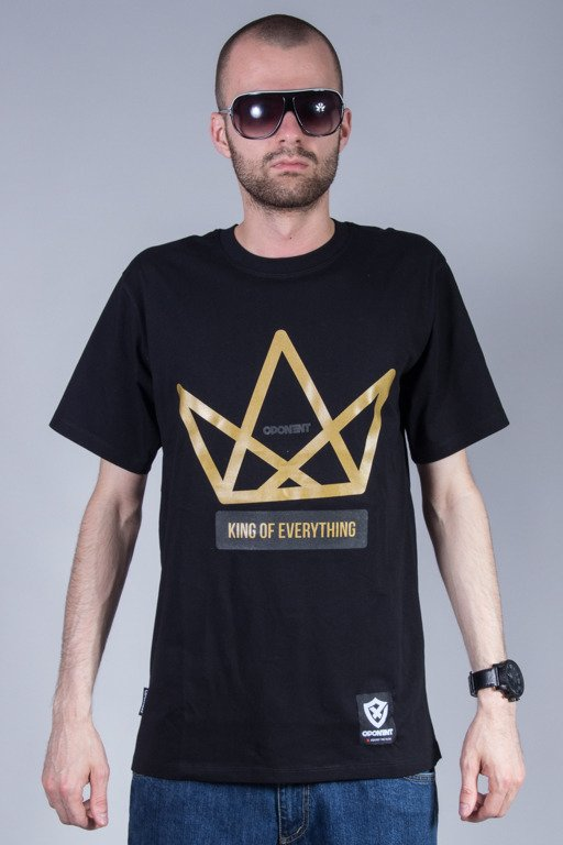 OPONENT T-SHIRT KING BLACK