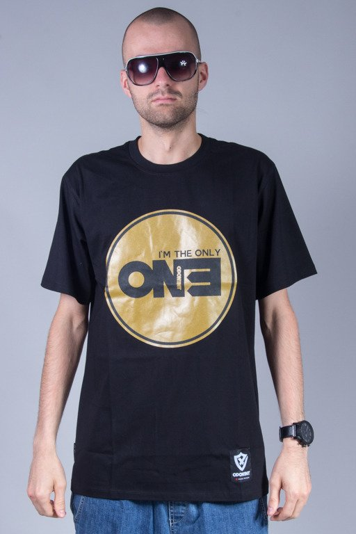 OPONENT T-SHIRT ONLY ONE BLACK-GOLD