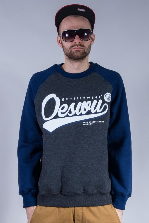 OUTSIDEWEAR BLUZA BEZ KAPTURA BASEBALL GREY-NAVY